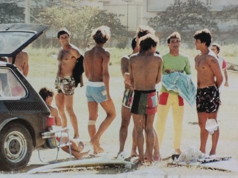 surfistas dos Anos 80 de Santos